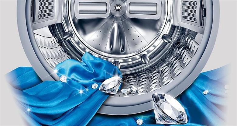 Lồng giặt kim cương- Máy giặt Samsung Inverter 9 kg WW90K54E0UW/SV lồng ngang