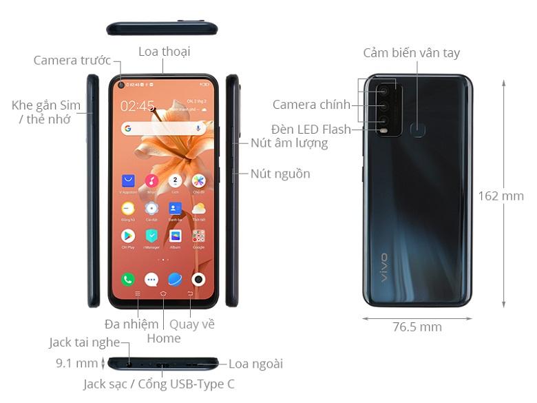 ảnh mô tả-Điện thoại Vivo Y50 8GB/128GB Đen