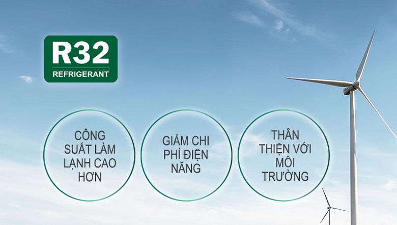 Gas R-32 - Điều hòa Panasonic 2 chiều Inverter 11900BTU CU/CS-YZ12WKH-8