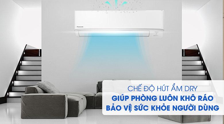 Chế độ hút ẩm - Điều hòa Panasonic 2 chiều Inverter 11900BTU CU/CS-YZ12WKH-8