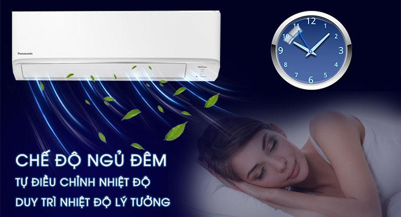 Chế độ ngủ đêm - Điều hòa Panasonic 2 chiều Inverter 11900BTU CU/CS-YZ12WKH-8