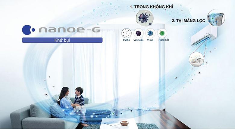 Công nghệ Nanoe - G - Điều hòa Panasonic 2 chiều Inverter 11900BTU CU/CS-YZ12WKH-8
