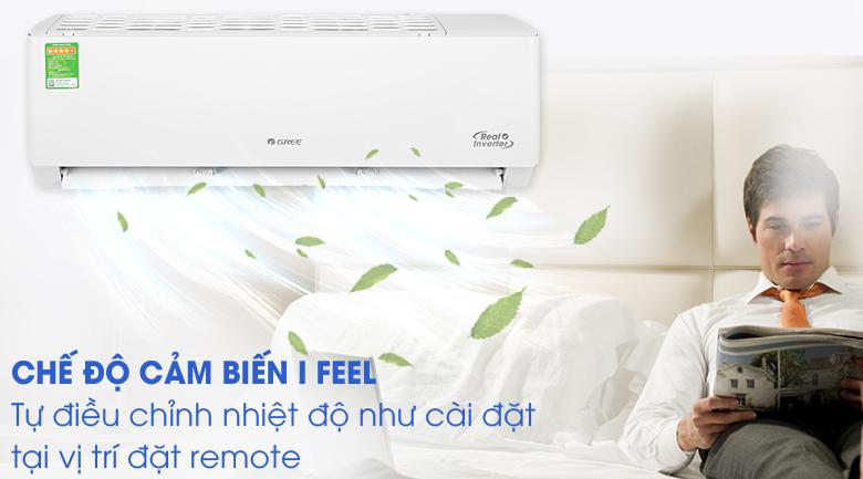 Cảm biến I feel - Điều hòa Gree 1 chiều Inverter 18000 BTU GWC18PC-K3D0P4