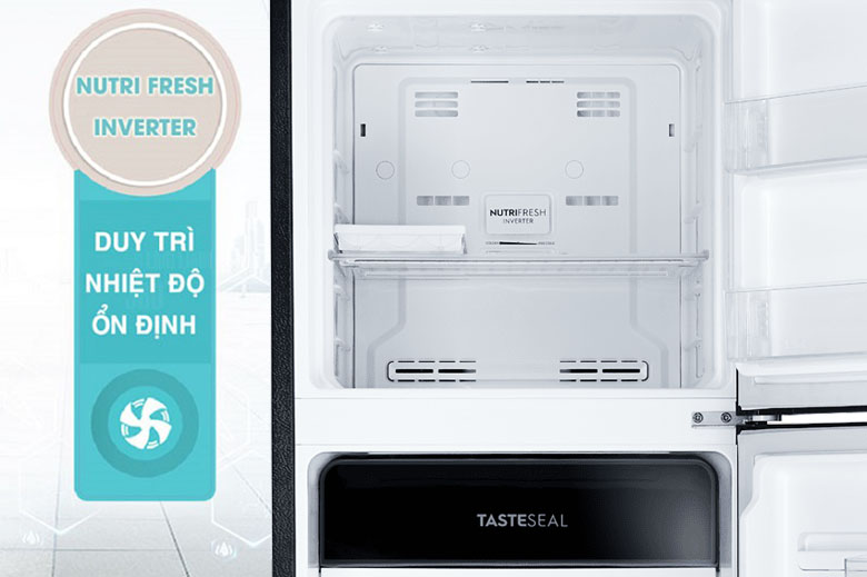 Tủ lạnh Electrolux Inverter 256 lít ETB2802J-H NutriFresh inverter