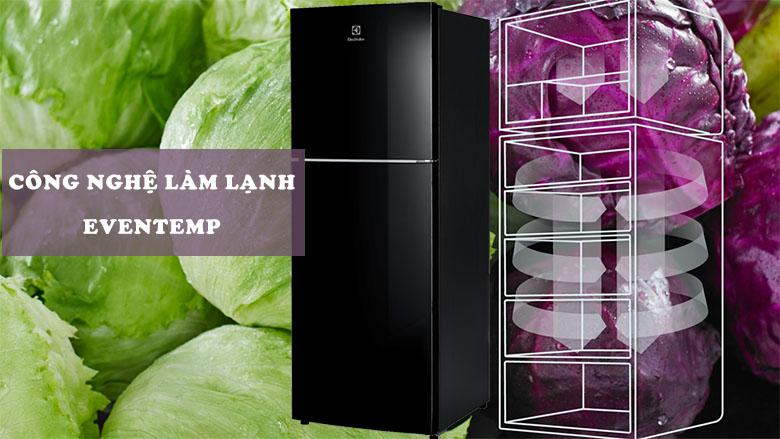 Tủ lạnh Electrolux Inverter 225 lít ETB2502J-H công nghệ làm lạnh eventemp