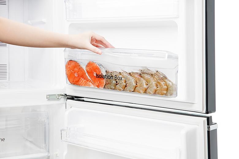 Tủ lạnh Panasonic Inverter 234 lít NR-BL263PPVN hộp đựng riêng biệt