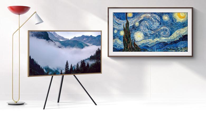 Thư viện tranh nghệ thuật khi tắt Smart Tivi QLED Samsung 4K 55 inch QA55LS03T
