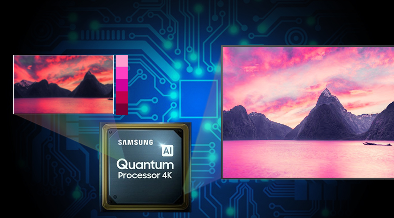 Smart Tivi QLED Samsung 4K 55 inch QA55LS03T với bộ xử lý Quantum 4K