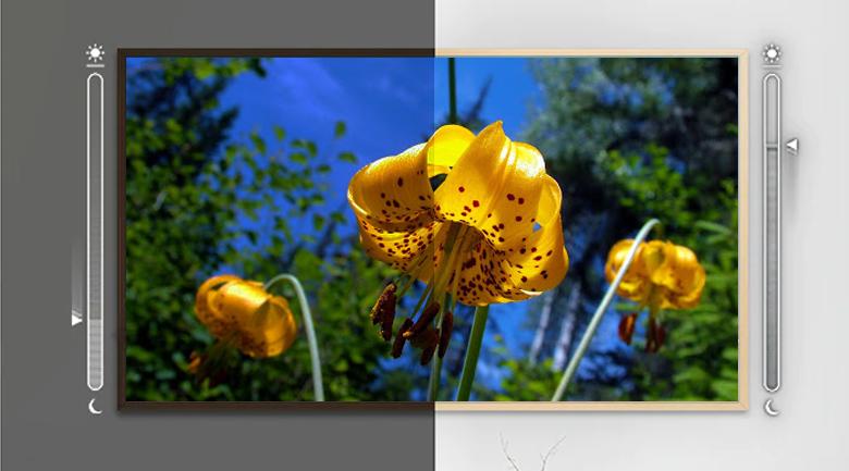 Cảm biến ánh sáng trên Smart Tivi QLED Samsung 4K 55 inch QA55LS03T