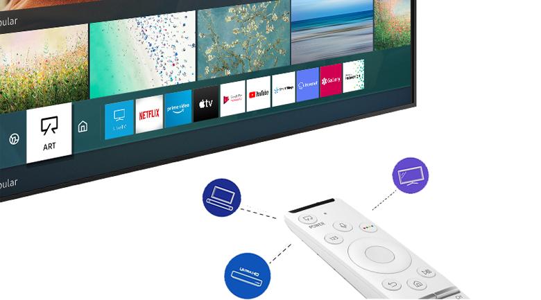 One Remote tại Smart Tivi QLED Samsung 4K 55 inch QA55LS03T