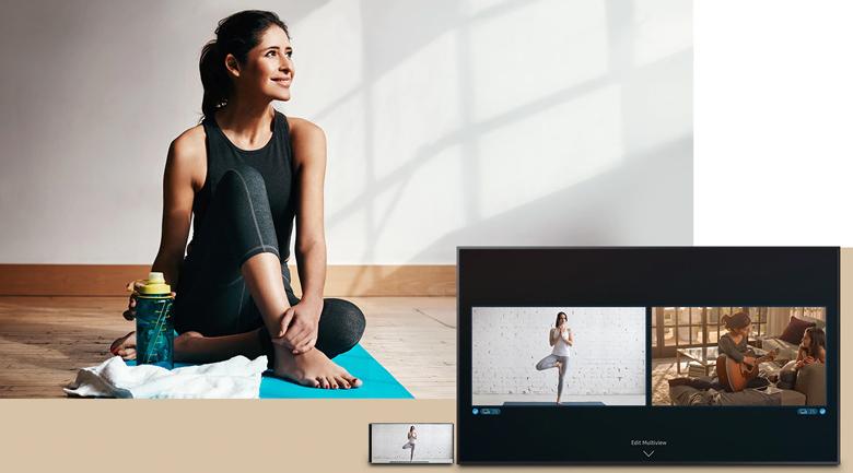 Smart Tivi QLED Samsung 4K 55 inch QA55LS03T sử dụng Chia đôi màn hình
