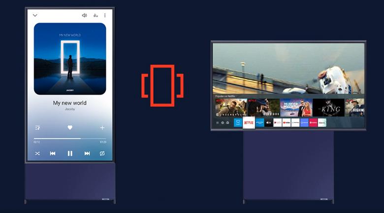 Màn hình xoay tiện lợi - Smart Tivi Samsung 4K QA43LS05T