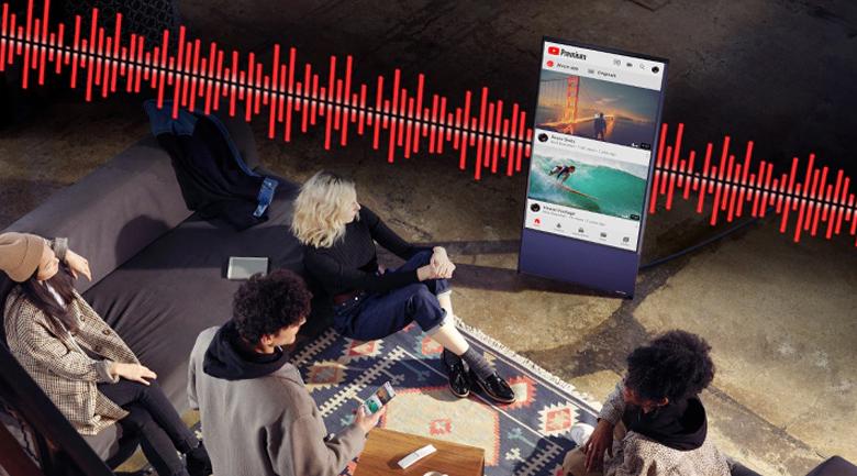 Công nghệ Active Voice thiết lập cuộc gọi hội thoại rõ ràng Smart Tivi Samsung 4K 43 inch 43LS05T