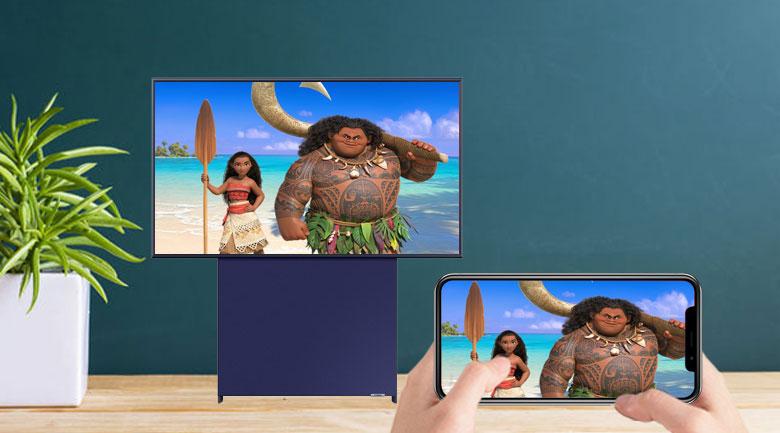 Screen Mirroring và Airplay 2 tính năng chiếu màn hình lên Smart Tivi Samsung 4K 43 inch QA43LS05TAKXXV