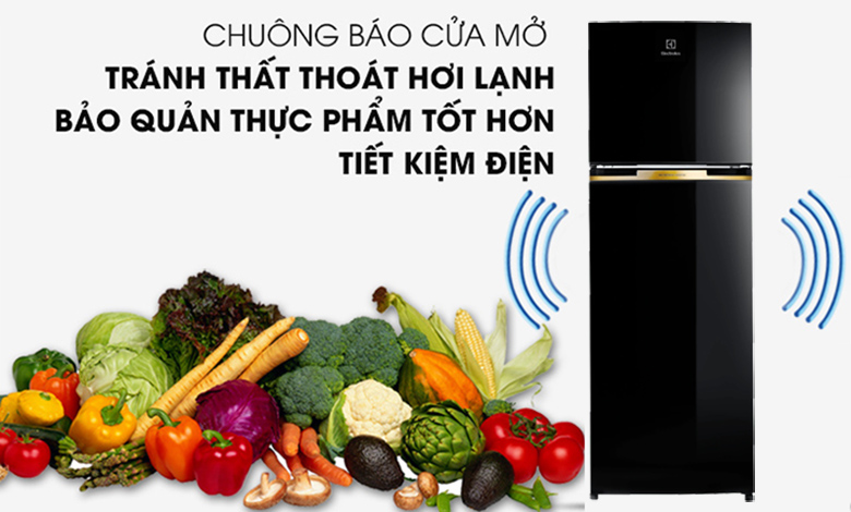 Tủ lạnh Electrolux Inverter 320 lít ETB3400J-H chuông báo mở cửa
