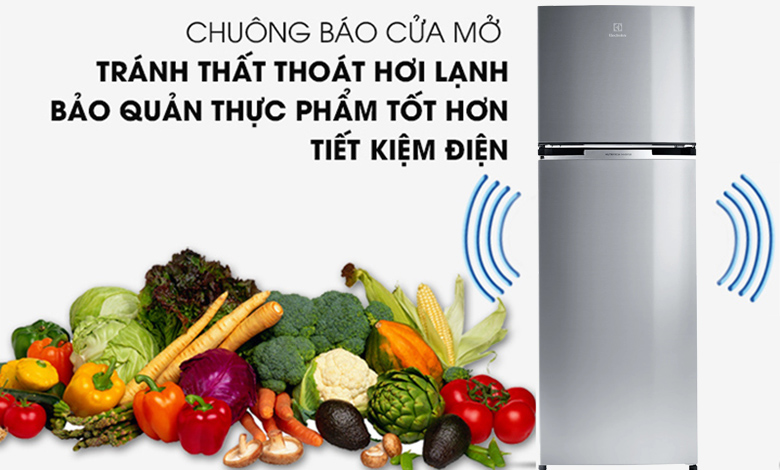 Tủ lạnh Electrolux Inverter 320 lít ETB3400J-A chuông báo mở cửa