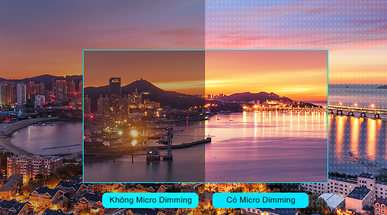 Công nghệ Micro Dimming - Android Tivi TCL 4K 43 inch 43P715