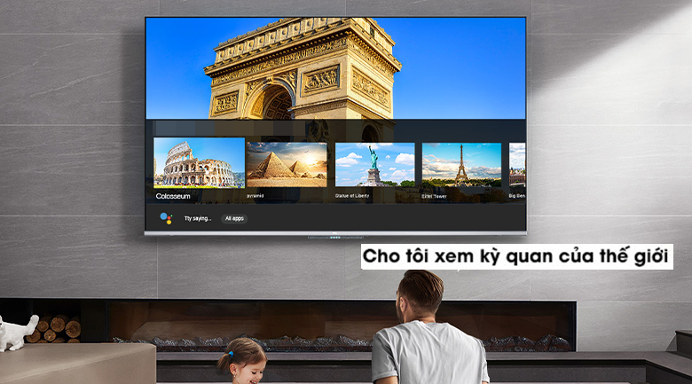 Trợ lý ảo - Android Tivi TCL 4K 43 inch 43P715