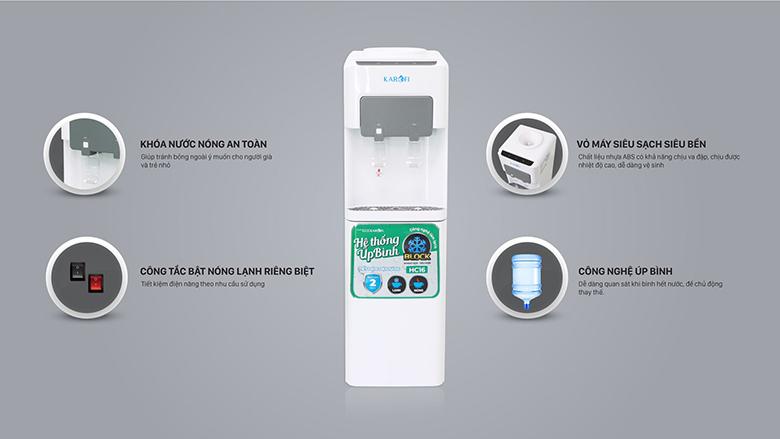Cây nước nóng lạnh Karofi HC16 an toàn tiện lợi