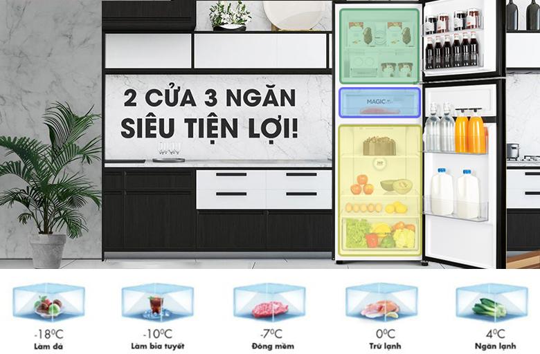 Tủ lạnh Aqua Inverter 291 lít AQR-T329MA (GB) ngăn tùy chỉnh nhiệt độ magic room