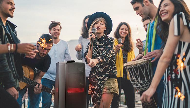 Chế độ Karaoke - Loa tháp Samsung MX-T50/XV
