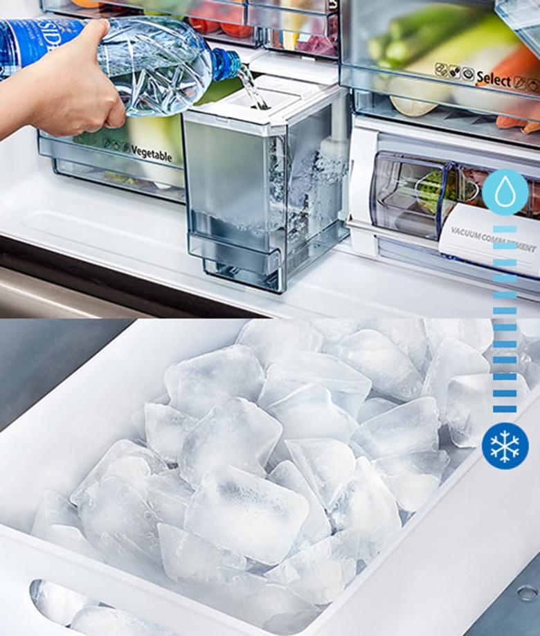 Tủ lạnh Hitachi Inverter 569 lít R-WB640VGV0(GMG) làm đá tự động