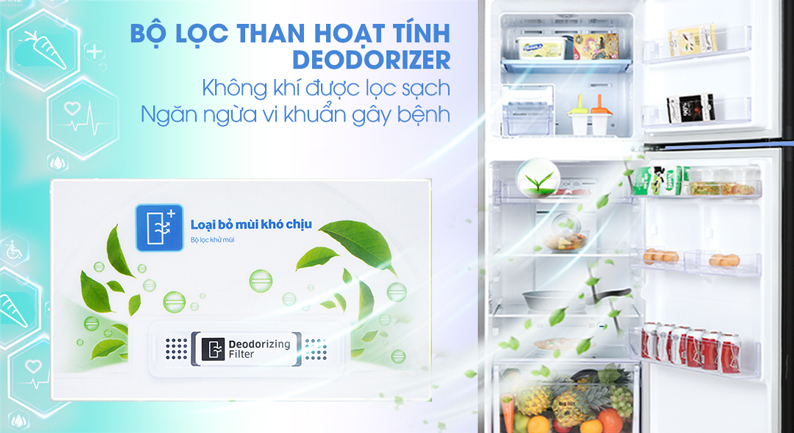 Tủ lạnh Samsung Inverter 300 lít RT29K5532BU/SV - bộ lọc than hoạt tính