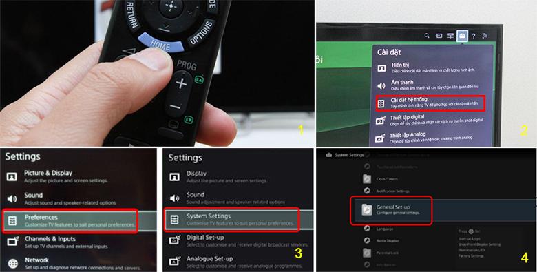 tắt chế độ Demo trên tivi Sony - dòng WxxxB / XxxxB