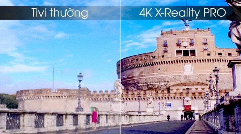 Công nghệ 4K X-Reality PRO trên tivi Sony 55X9000H/S nâng lên gần độ phân giải 4K
