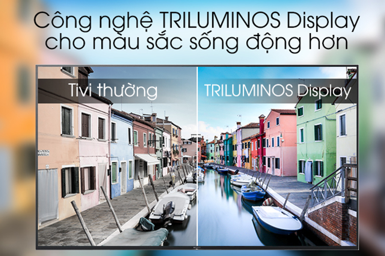 Công nghệ Triluminos - Android Tivi Sony 4K 75 inch KD-75X9000H