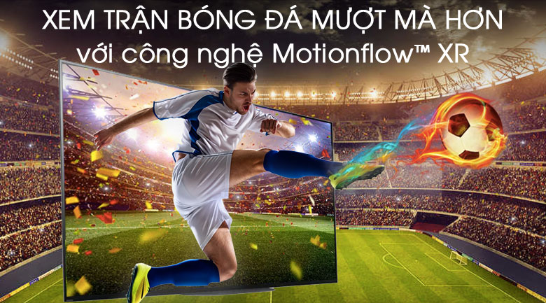 tivi Sony 55A9G sở hữu công nghệ Motionflow XR cho hành động mượt mà, uyển chuyển
