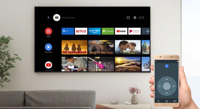 Điều khiển Android Tivi Sony 65X8050H bằng điện thoại