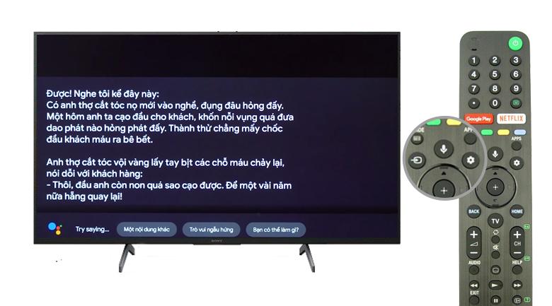 Hỗ trợ tìm kiếm giọng nói - Android Tivi Sony 4K 65 inch KD-65X8050H