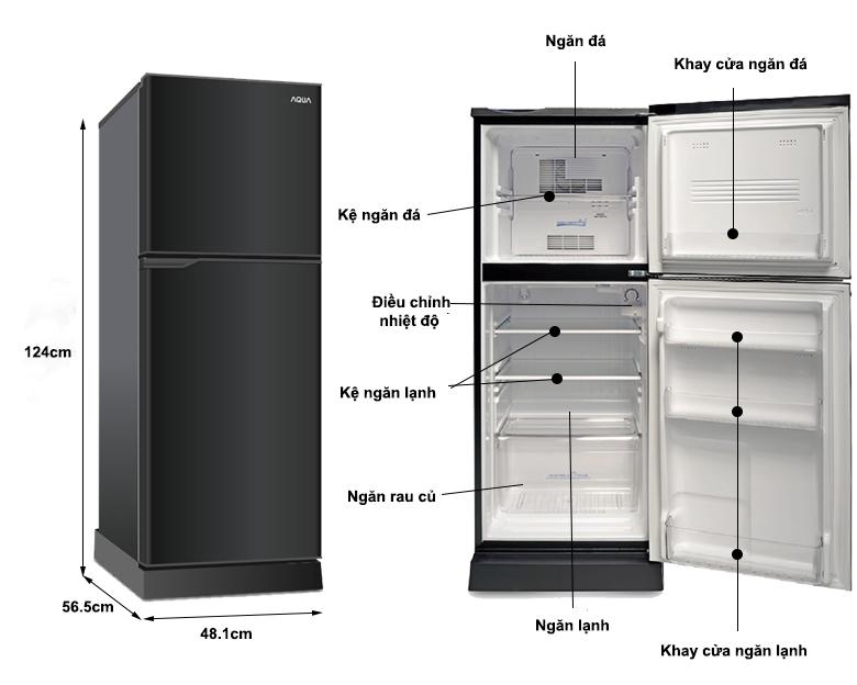 chi tiết - Tủ lạnh Aqua 130 lít AQR-T150FA BS