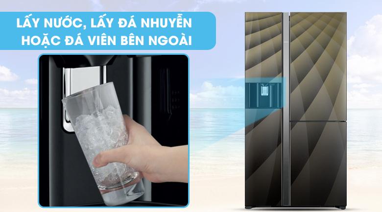 lấy nước bên ngoài -Tủ lạnh Hitachi Inverter 569 lít R-FM800XAGGV9X (DIA)