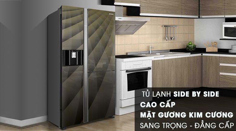thiết kế sang trọng -Tủ lạnh Hitachi Inverter 569 lít R-FM800XAGGV9X (DIA)