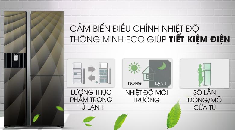 cảm biến Eco - Tủ lạnh Hitachi Inverter 569 lít R-FM800XAGGV9X (DIA)
