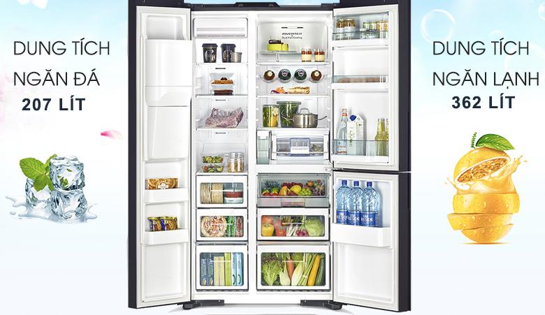 nội thất sang trọng - Tủ lạnh Hitachi Inverter 569 lít R-FM800XAGGV9X (DIA)