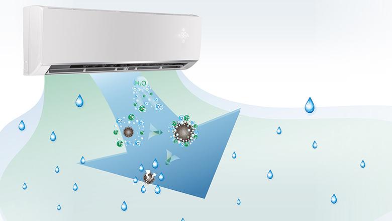 Hệ thống Cold Plasma - Điều hòa Gree 1 chiều Inverter 18000 BTU GWC18PC-K3D0P4
