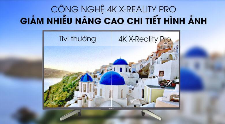Công nghệ 4K X-Reality Pro tăng cường độ nét trên tivi Sony 65X8050H