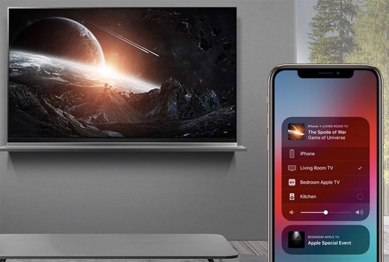 kết nối iphone với tivi LG qua AirPlay2bước 8