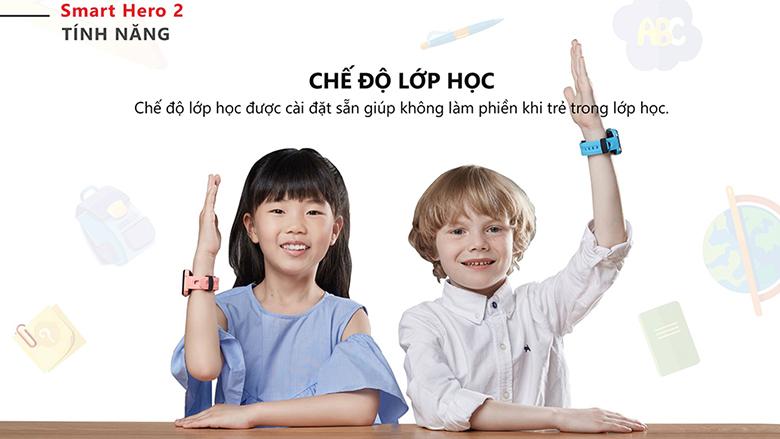 chế độ lớp học đồng hồ thông minh trẻ em Masstel Smart Hero 2 Xanh