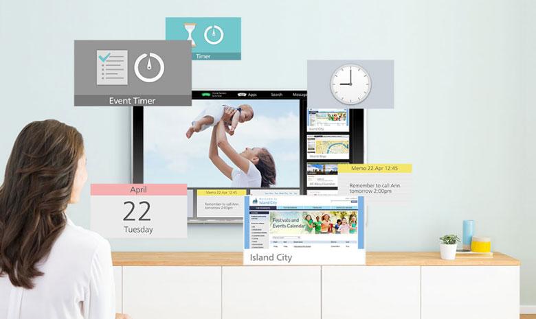 tivi Panasonic 49ES500V với giao diện My Home Screen