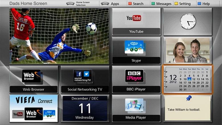 tivi Panasonic 49ES500V với nhiều ứng dụng giải trí hấp dẫn