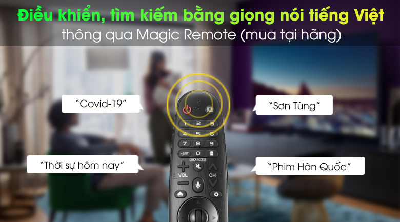 Magic Remote - Smart Tivi LG 4K 55 inch 55UN7400PTA
