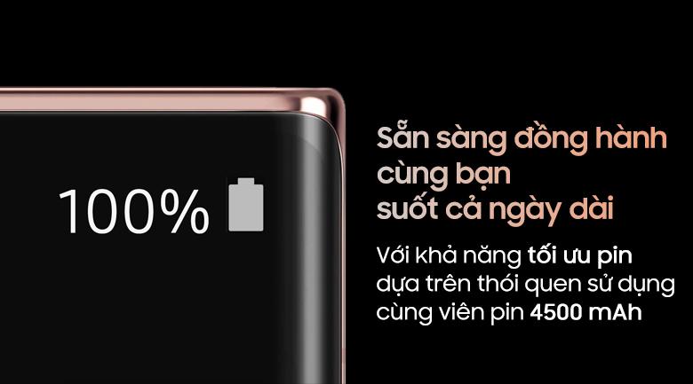 Dung lượng pin-Điện thoại Samsung Galaxy Note 20 Ultra 8GB/256GB đen