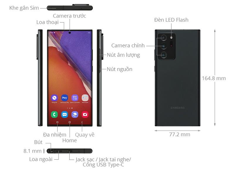 ảnh mô tả-Điện thoại Samsung Galaxy Note 20 Ultra 8GB/256GB Đen
