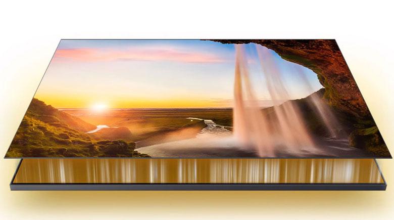Kiểm soát màu sắc đèn nền Tivi Samsung 50TU8500 qua công nghệ Dual LED