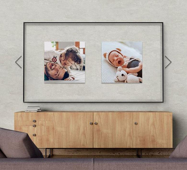 Magic Screen màn hình nền chiếu UA55TU8500 55 inch