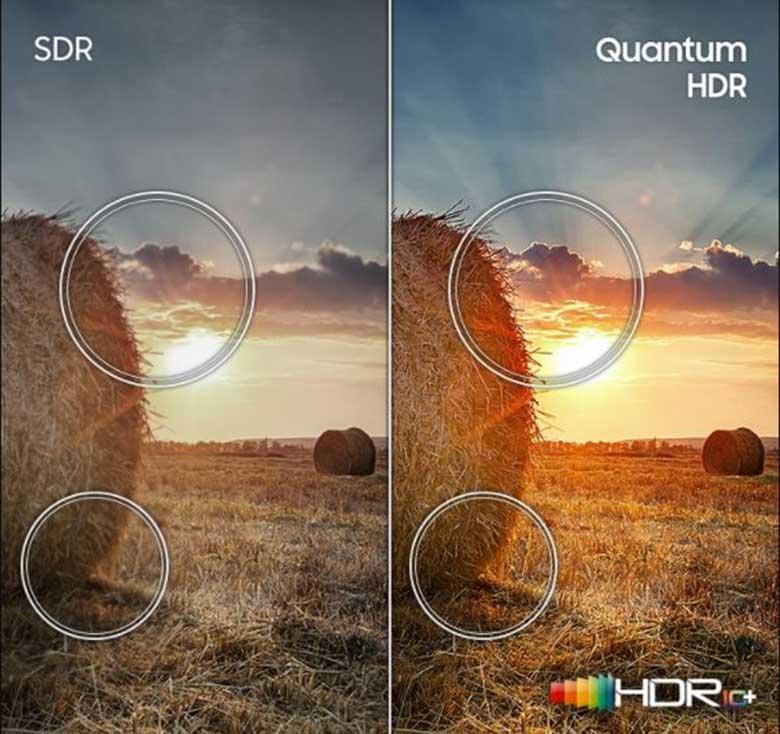 Tận hưởng những bức ảnh hoàn hảo công nghệ Quantum HDR 55Q70T 4K QLED
